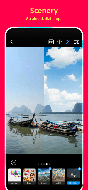Photoshop Camera:Lens Filters Screenshot