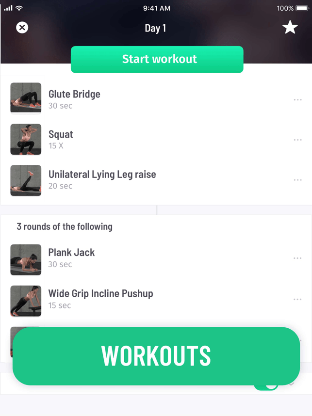 30 Day Fitness - Home Workout Screenshot