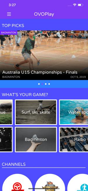 OVOPlay: Sport & Entertainment Screenshot
