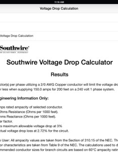 Southwire voltage drop calculator hd also by company rh appadvice