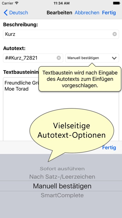 Textbausteinverwaltung PhraseExpress Screenshot