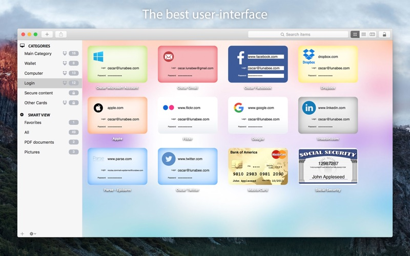 oneSafe Screenshot
