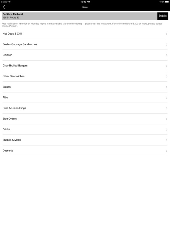 Portillo's on the App Store