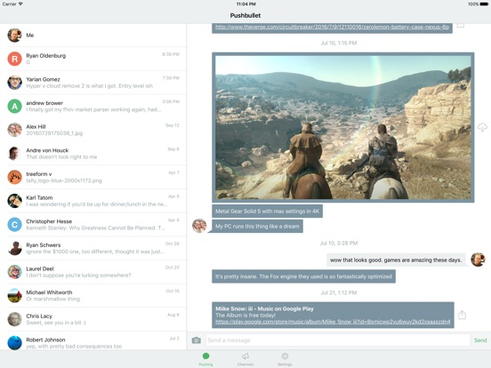 Pushbullet Screenshot