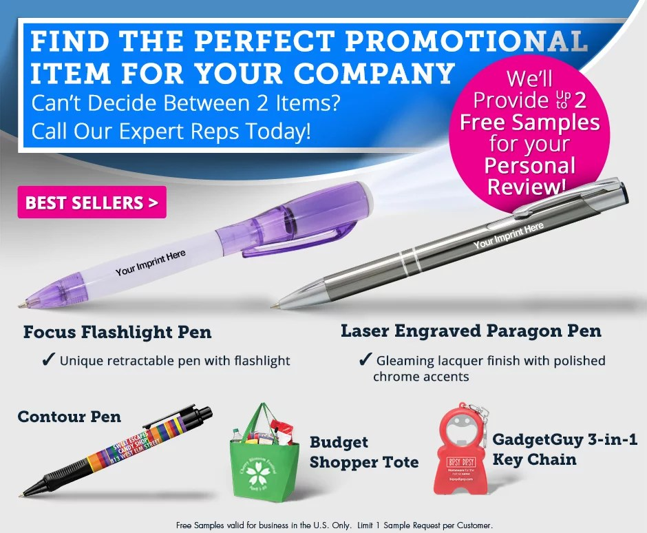 2 Free Samples Of Top Promotional Products National Pen