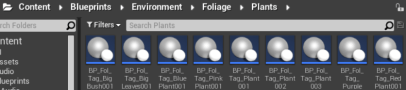 4. Create the Instanced Foliage Mesh Components