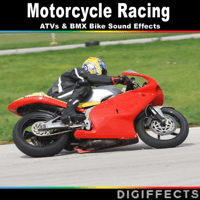 Motorcycle Road Racing Passing with Heavy Engine Digiffects Sound Effects Library MP3