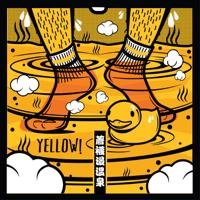 著襪浸溫泉 Yellow!