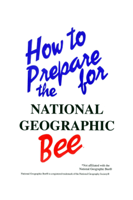 How to Prepare for the National Geographic Bee - Robert Pierce