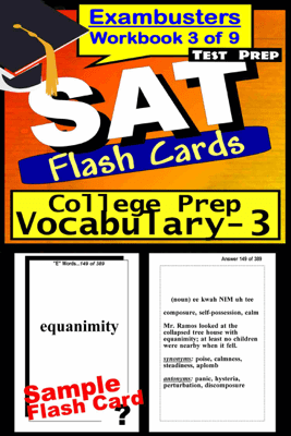 SAT Test Prep College Prep Vocabulary 3 Review--Exambusters Flash Cards--Workbook 3 of 9 - SAT Exambusters