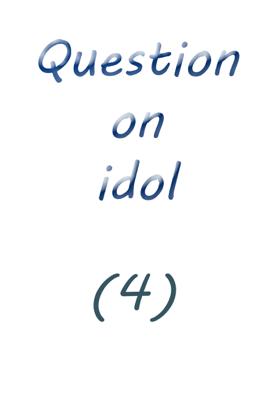 Question on Idol (4) - Farah Solomon