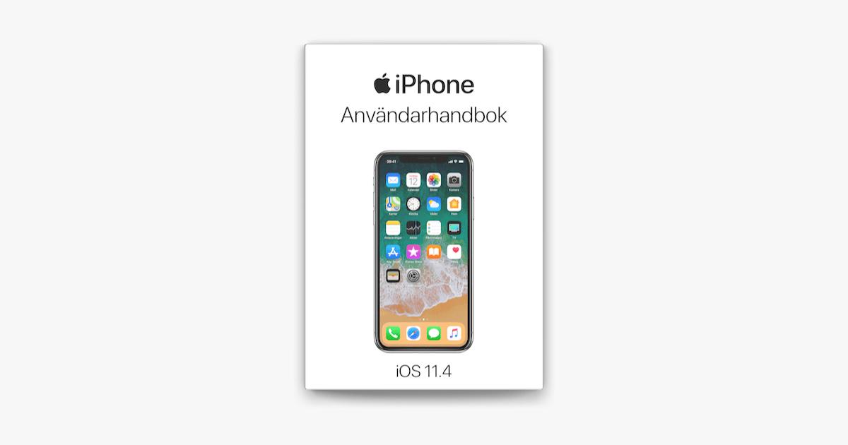 iPhone Användarhandbok för iOS 11.4 i Apple Books