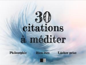 30 Citations à méditer : Philosophie, Bien-être, Lâcher prise - Collectif & FV Éditions pdf download