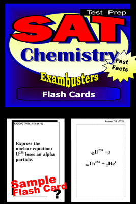 SAT Chemistry Test Prep Review--Exambusters Flash Cards - SAT II Exambusters