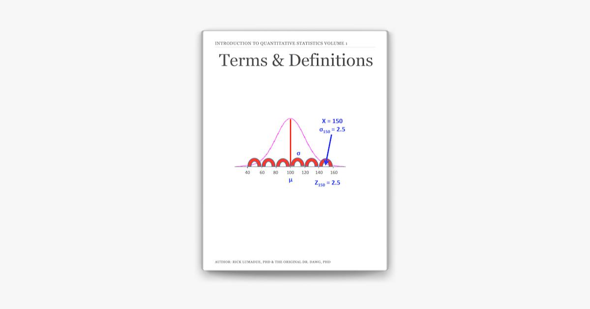 Introduction to Quantitative Statistics: Terms