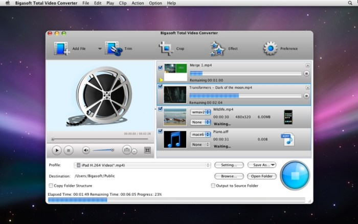 Bigasoft Total Video Converter Screenshot 03 139h9rn