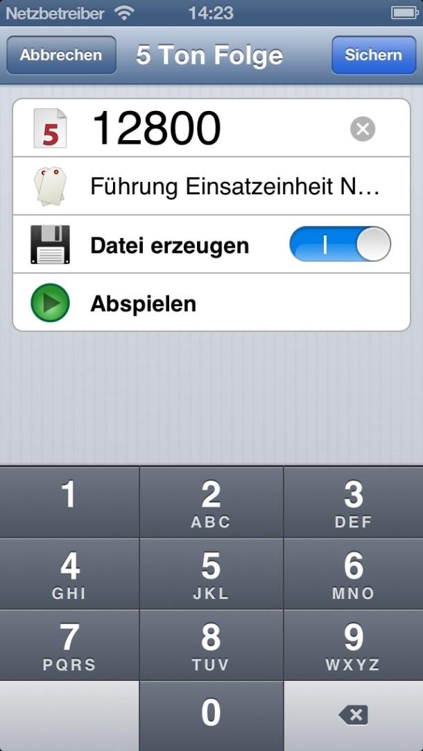 FiveToneCall Screenshot
