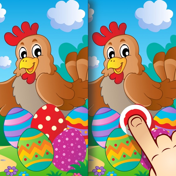 Easter Find the Difference Game for Kids, Toddlers and Adults