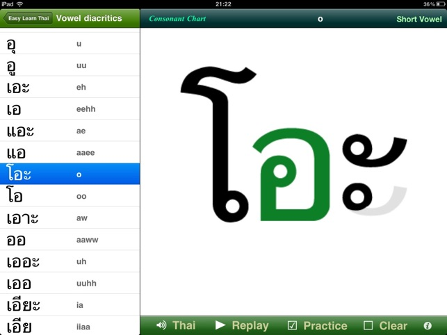 Easy Learn Thai Alphabets for iPad on the App Store