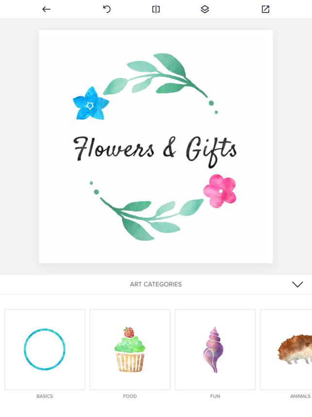 Watercolor Logo Maker Screenshot