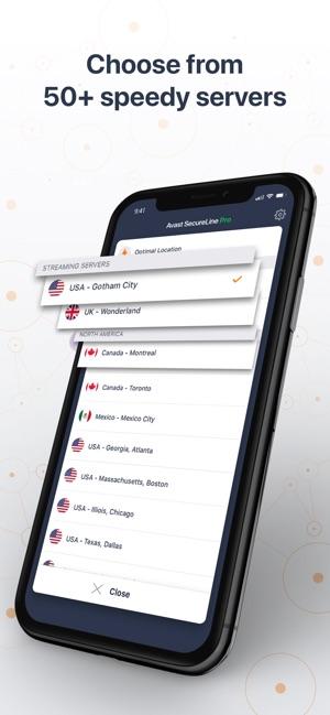 Avast SecureLine VPN Proxy Screenshot