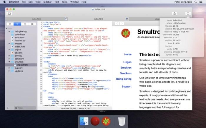 Smultron 12 - Text editor Screenshot 03 1f4qzmhn