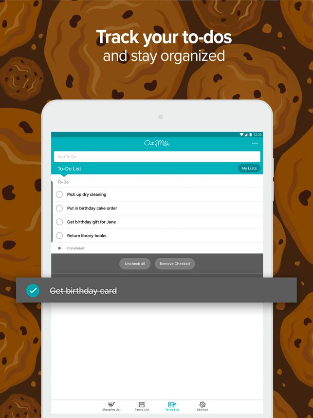 Out of Milk - Shopping List Screenshot