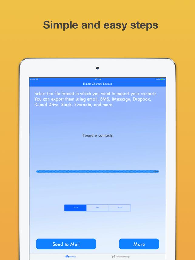 Export Excel Contact Cleaner Screenshot