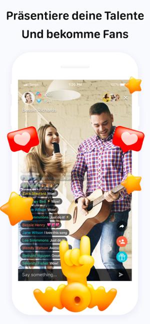 Tango - Live Video Broadcasts Screenshot