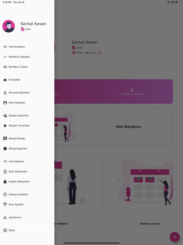 Salon Randevu İşletme Yönetimi Screenshot