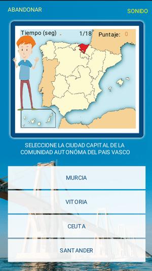 ESPAÑA - Juego de Capitales Screenshot