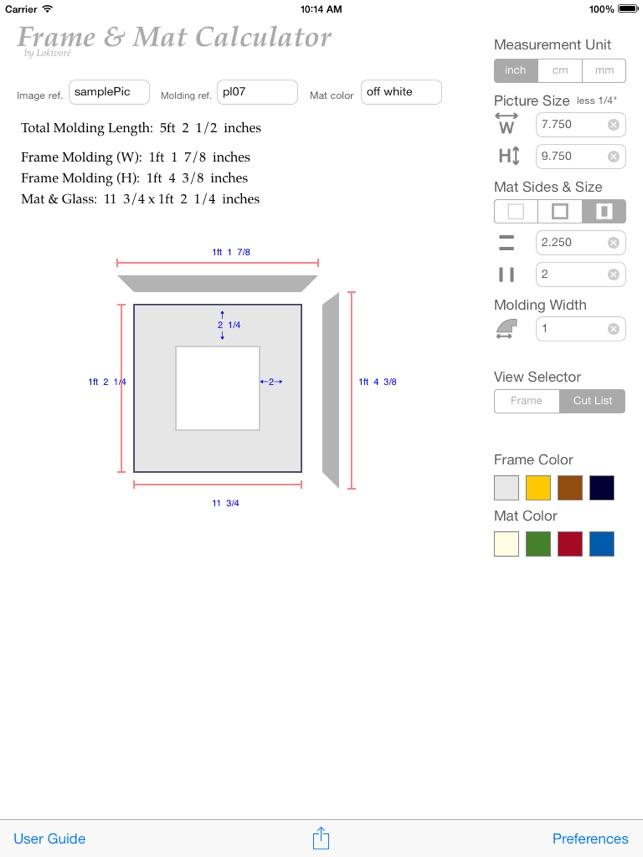 Picture Frame Calculator Software   secondtofirst com