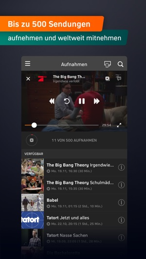 Zattoo - TV Streaming App Screenshot