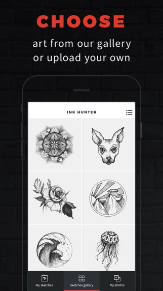 INKHUNTER Try Tattoo Designs iPhone