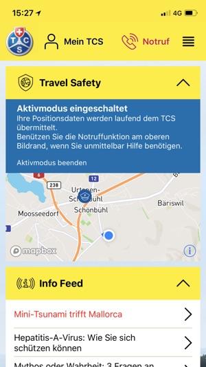 TCS - Touring Club Schweiz Screenshot