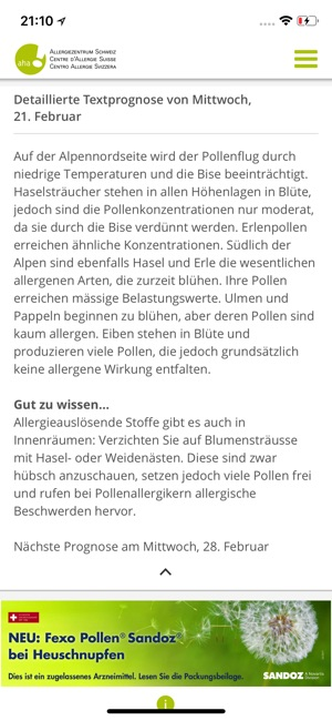 Pollen-News Screenshot