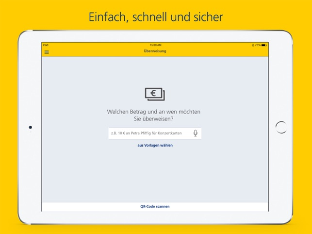 Postbank Finanzass. für iPad Screenshot