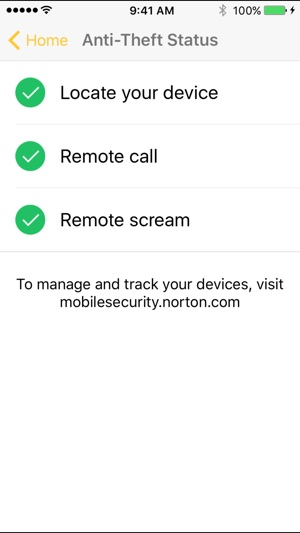 Norton Mobile Security. Screenshot