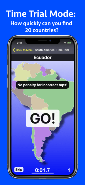 World Map Challenge! Geography Screenshot