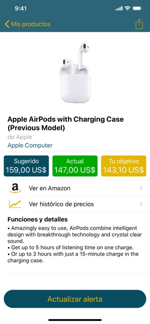 Trackava - alertas para Amazon Screenshot
