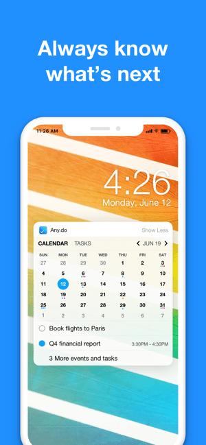 Calendar & Reminders - Any.do Screenshot