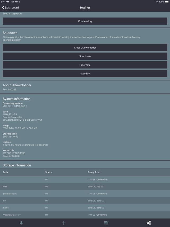MyJDownloader Remote Capture d'écran