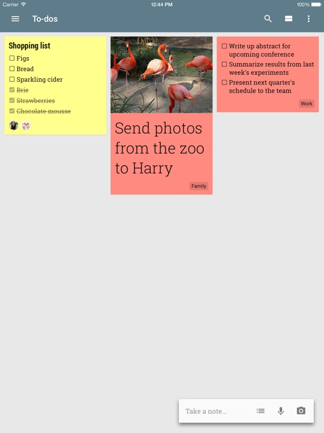 Google Notizen Screenshot