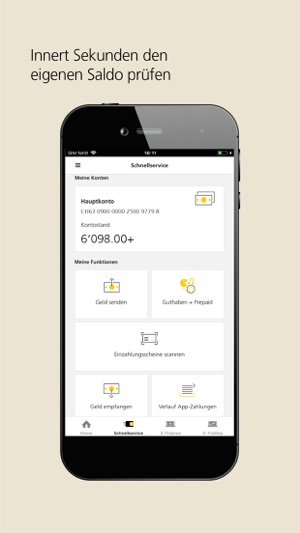 PostFinance Mobile Screenshot