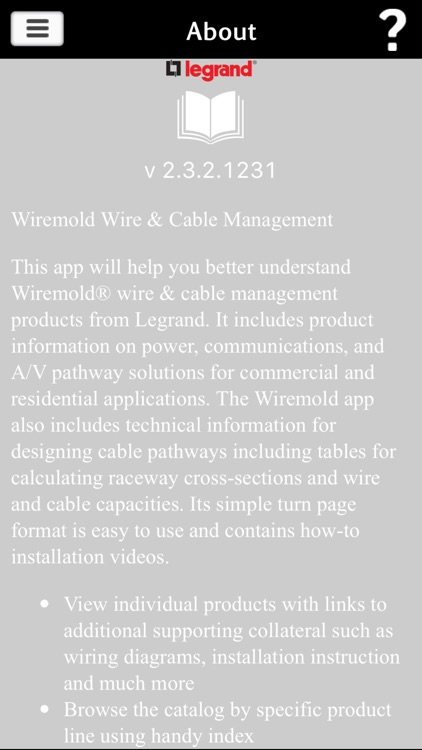 Wiremold Literature App by Legrand, Inc.