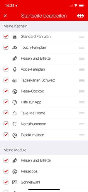 SBB Mobile Screenshot