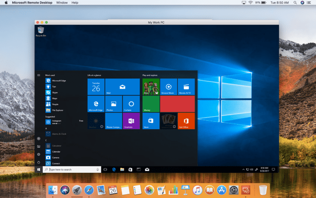 Microsoft Remote Desktop 8 Screenshot