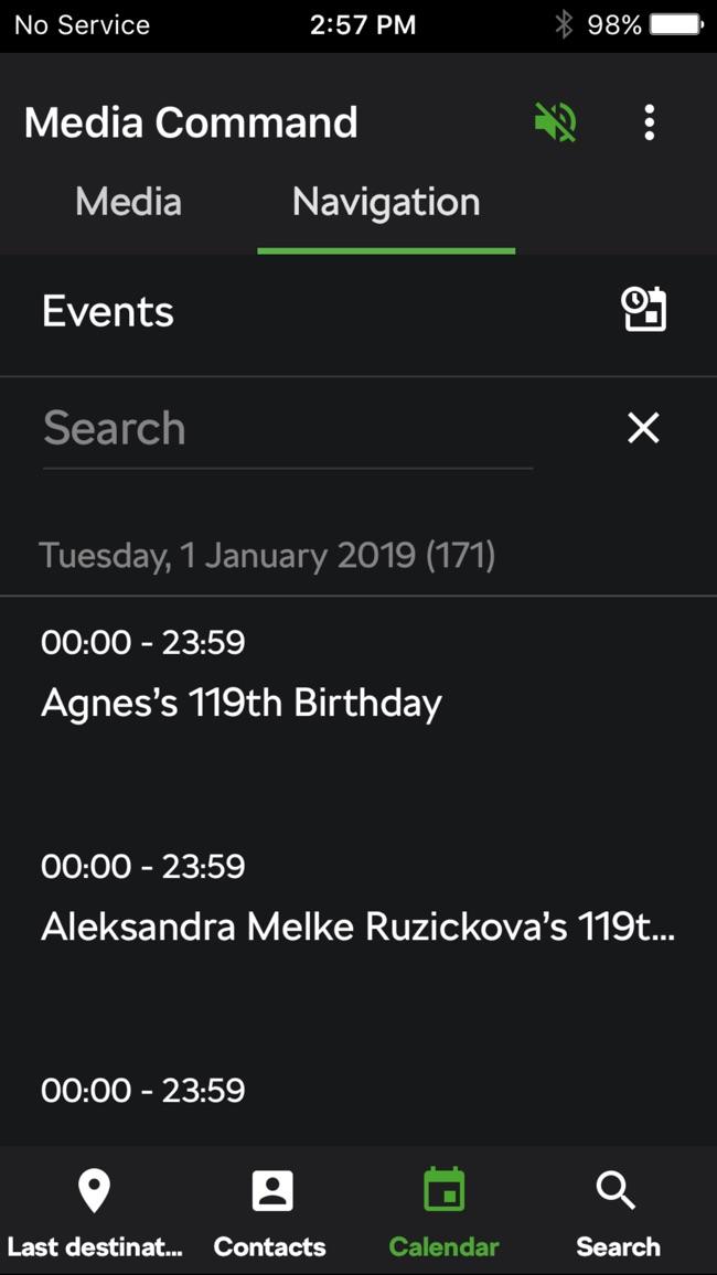 Škoda Media Command Screenshot