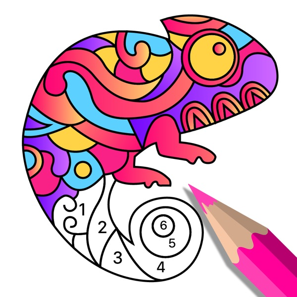 Color Art:Number Coloring Book