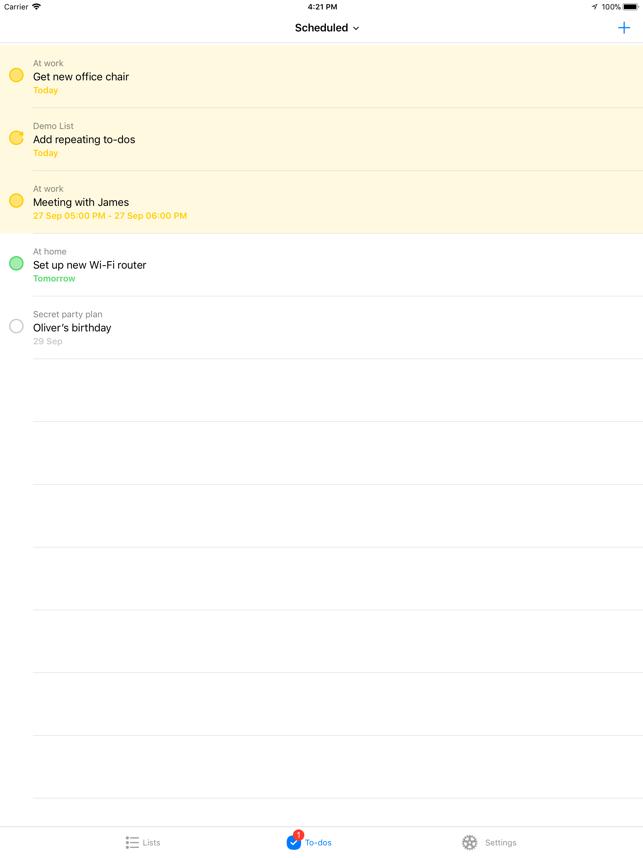 Pocket Lists 1 Screenshot